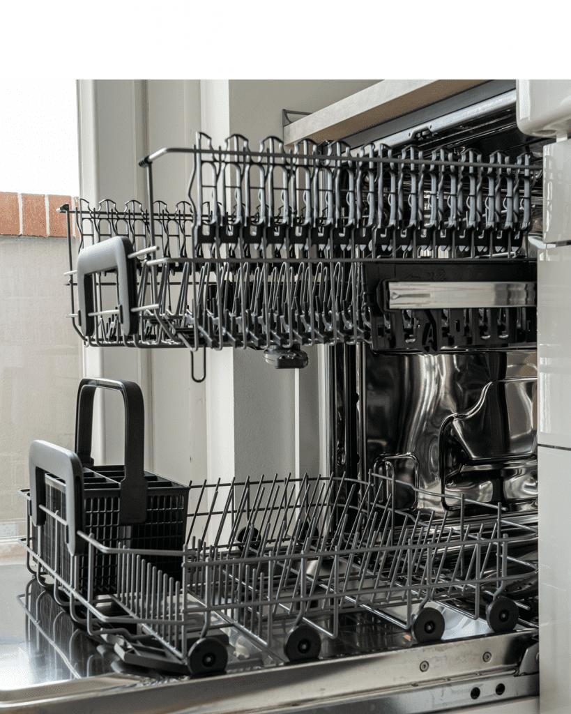 Open dishwasher drawer