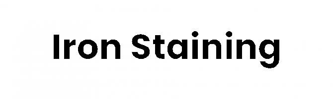 Iron Stain text