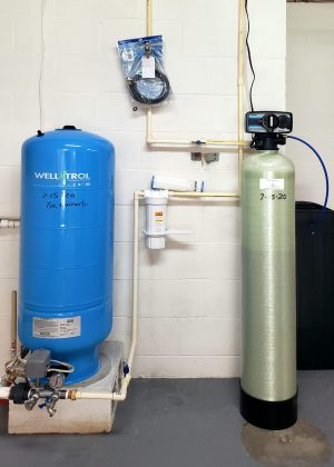 Softener, Sediment Filter, and Pressure Tank