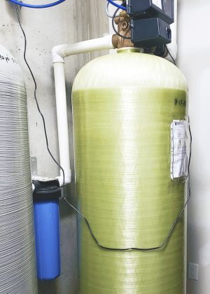 Large Commercial softener with sediment filter